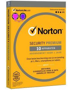 Norton Security Premium - 1 Gebruiker / 10 Toestellen
