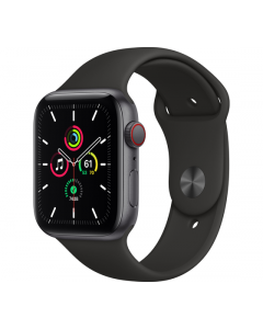 Apple Watch SE Cellular 44MM Sport Band - Grijs/Zwart
