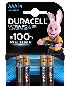 Ultra power batterij type AAA. 4-pak MX2400 .