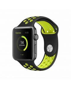 BeHello Premium Apple Watch 38/40mm Silicone Strap Black/Yellow