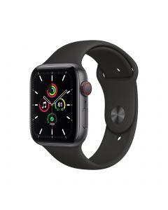 Apple Watch SE GPS + Cellular 44mm Space Gray Aluminium Case with Black Sport Band Regular