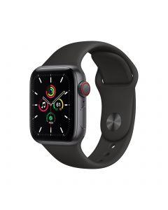 APPLE Watch SE GPS + Cellular 40mm Space Gray Aluminium Case with Black Sport Band Regular