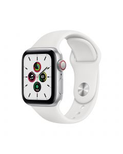 Apple Watch SE GPS + Cellular 40mm Silver Aluminium Case with White Sport Band Regular