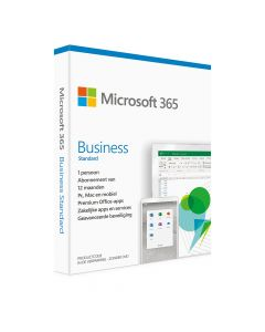 Microsoft Office 365 Business Standard 1 Gebruiker / 5 Toestellen PC/MAC - 1 Jaar